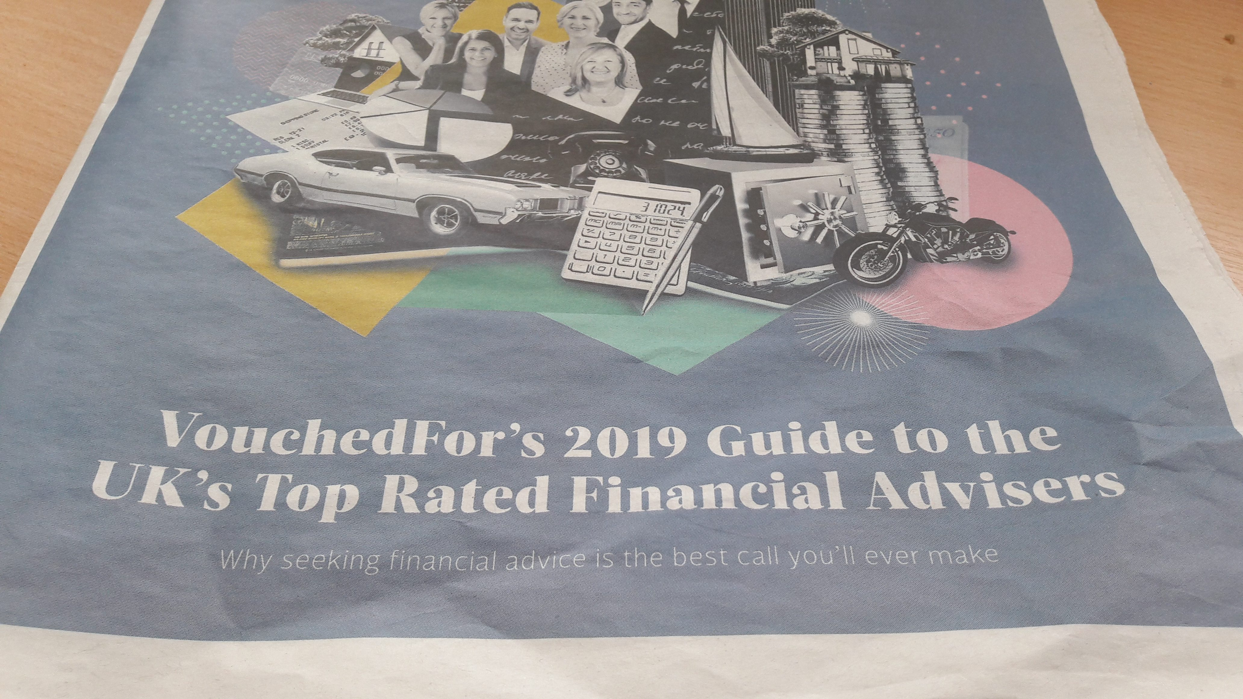 2019 VouchedFor Guide to the UK's Top Rated Financial Advisers